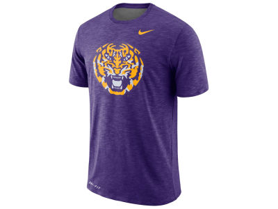 LSU Tigers Nike NCAA Men's Dri-Fit Cotton Slub T-Shirt