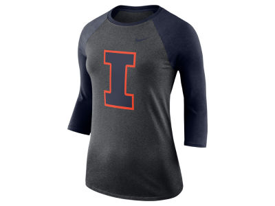 Illinois Fighting Illini Nike NCAA Women's Dri-Blend Raglan T-shirt