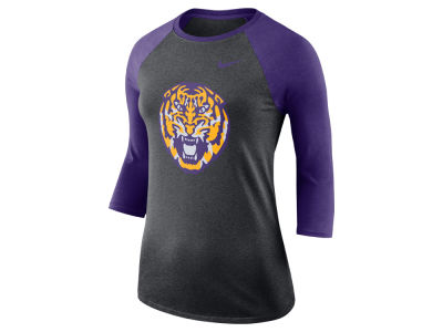 LSU Tigers Nike NCAA Women's Dri-Blend Raglan T-shirt