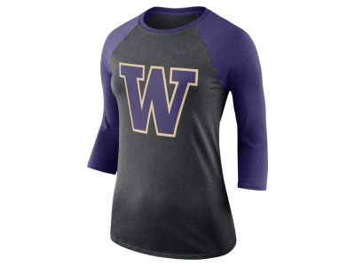 Washington Huskies Nike NCAA Women's Dri-Blend Raglan T-shirt