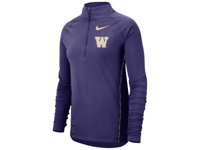 Washington Huskies Nike NCAA Women's Element Half Zip Pullover
