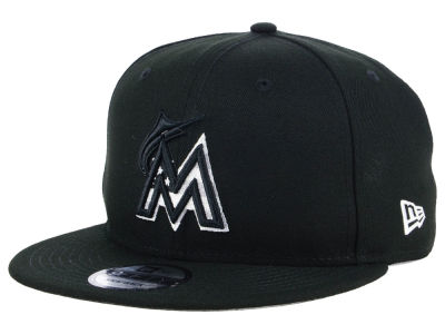Miami Marlins New Era MLB Flag Fill 9FIFTY Snapback Cap