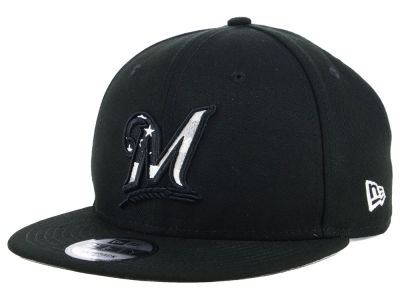 Milwaukee Brewers New Era MLB Flag Fill 9FIFTY Snapback Cap