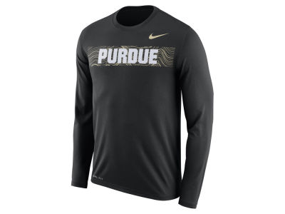 Purdue Boilermakers Nike 2018 NCAA Men's Legend Sideline Long Sleeve T-Shirt