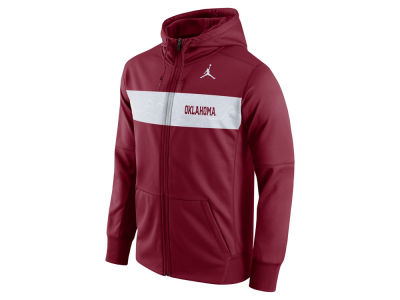 Oklahoma Sooners Jordan NCAA Men's Performance Sideline Full Zip Hooded Sweatshirt