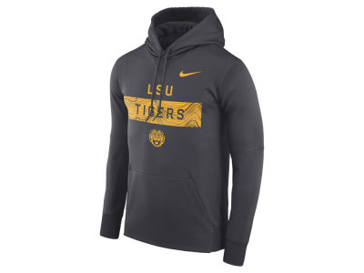 LSU Tigers Nike NCAA Men's Staff Pullover Hooded Sweatshirt
