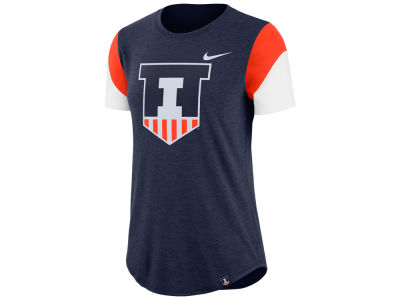 Illinois Fighting Illini Nike NCAA Women's Tri-blend Fan T-Shirt