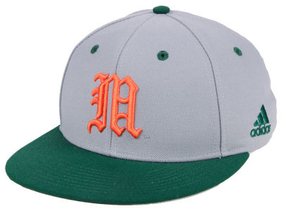 Miami Hurricanes adidas NCAA On-Field Baseball Fitted Cap