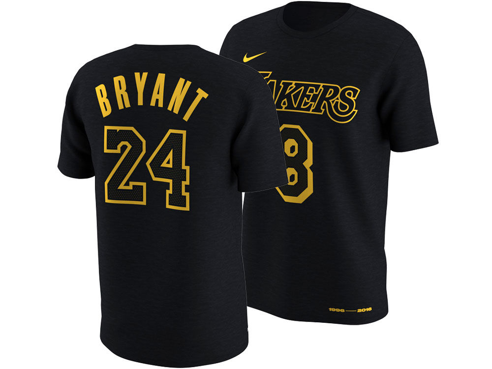 Los Angeles Lakers Kobe Bryant Nike NBA Men s Kobe Name and Numbers T-Shirt   f65dc9ef0