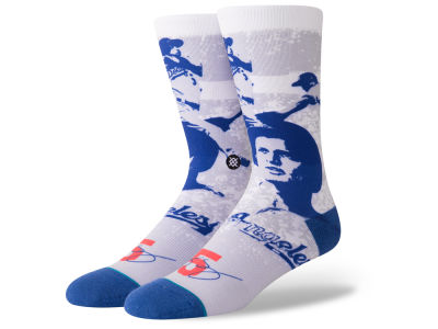 Los Angeles Dodgers Corey Seager Stance MLB Future Legends Splatter Cartoon Crew Socks
