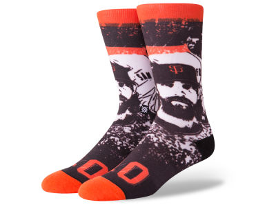 San Francisco Giants Madison Bumgarner Stance MLB Future Legends Splatter Cartoon Crew Socks