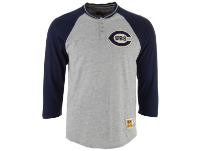 Chicago Cubs Mitchell & Ness MLB Men's 4-Button Henley T-shirt