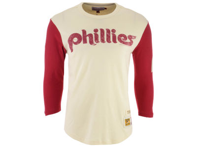 Philadelphia Phillies Mitchell & Ness MLB Men's Wild Pitch Raglan T-shirt