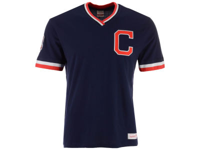Cleveland Indians Mitchell & Ness MLB Men's Coop Overtime Vintage Top T-shirt