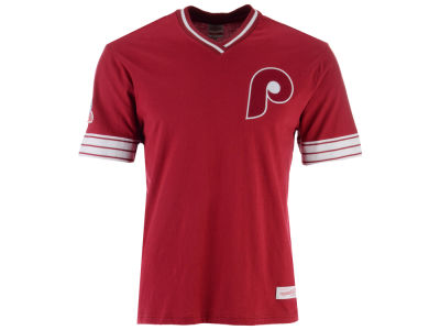 Philadelphia Phillies Mitchell & Ness MLB Men's Coop Overtime Vintage Top T-shirt