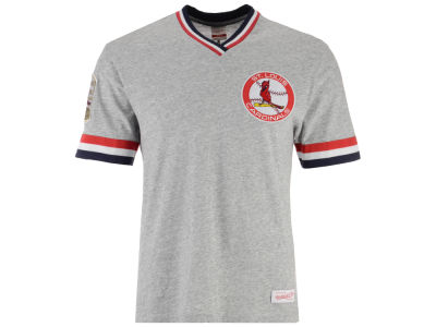 St. Louis Cardinals Mitchell & Ness MLB Men's Coop Overtime Vintage Top T-shirt