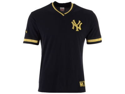 New York Yankees Mitchell & Ness MLB Men's Black & Gold Overtime Top T-shirt