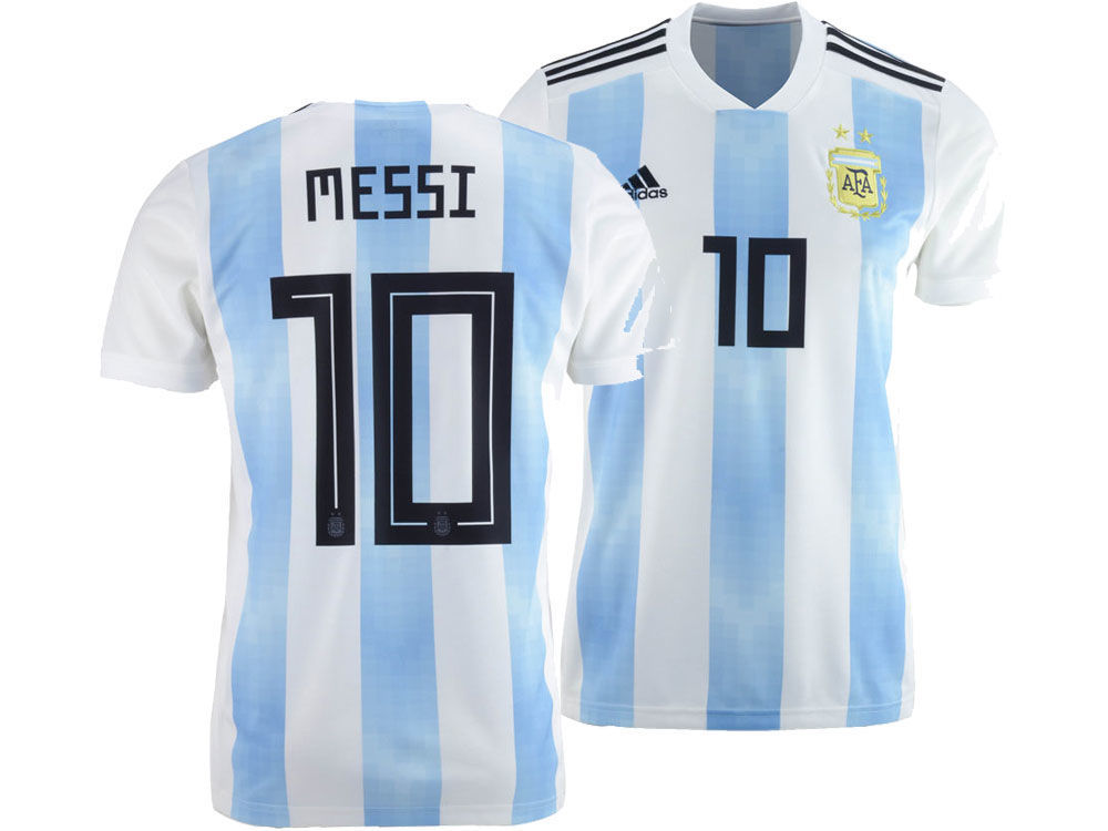 Argentina Lionel Messi adidas 2018 Youth National Team Home Stadium Jersey   b606f7153