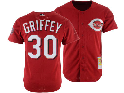 Cincinnati Reds Ken Griffey Jr. Mitchell & Ness MLB Men's Authentic Mesh Batting Practice V-Neck Jersey