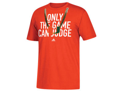 Miami Hurricanes adidas NCAA Men's Only the Game Can Judge T-Shirt