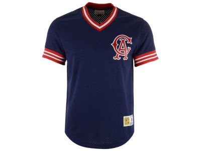 Los Angeles Angels Mitchell & Ness MLB Men's Mesh V-Neck Jersey