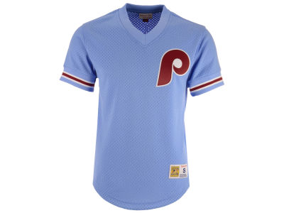 Philadelphia Phillies Mitchell & Ness MLB Men's Mesh V-Neck Jersey