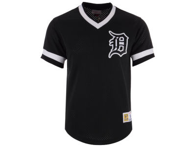 Detroit Tigers Mitchell & Ness MLB Men's Mesh V-Neck Jersey