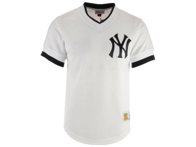 New York Yankees Mitchell & Ness MLB Men's Mesh V-Neck Jersey