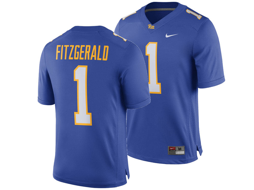 Pittsburgh Panthers Larry Fitzgerald Nike NCAA Men s Player Game Jersey  0b39654ad