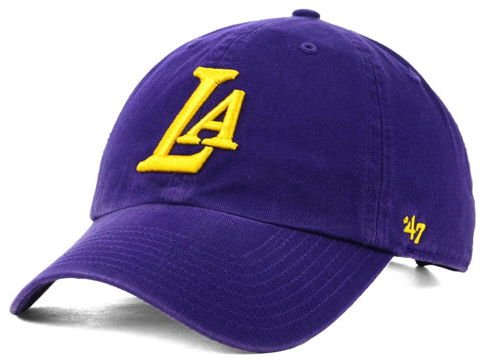 Los Angeles Lakers  47 NBA Mashup  47 CLEAN UP Cap  0c99c84d6
