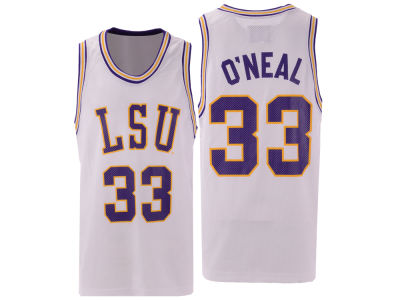 LSU Tigers Shaquille O'Neal Retro Brand NCAA Men's Throwback Basketball Jersey