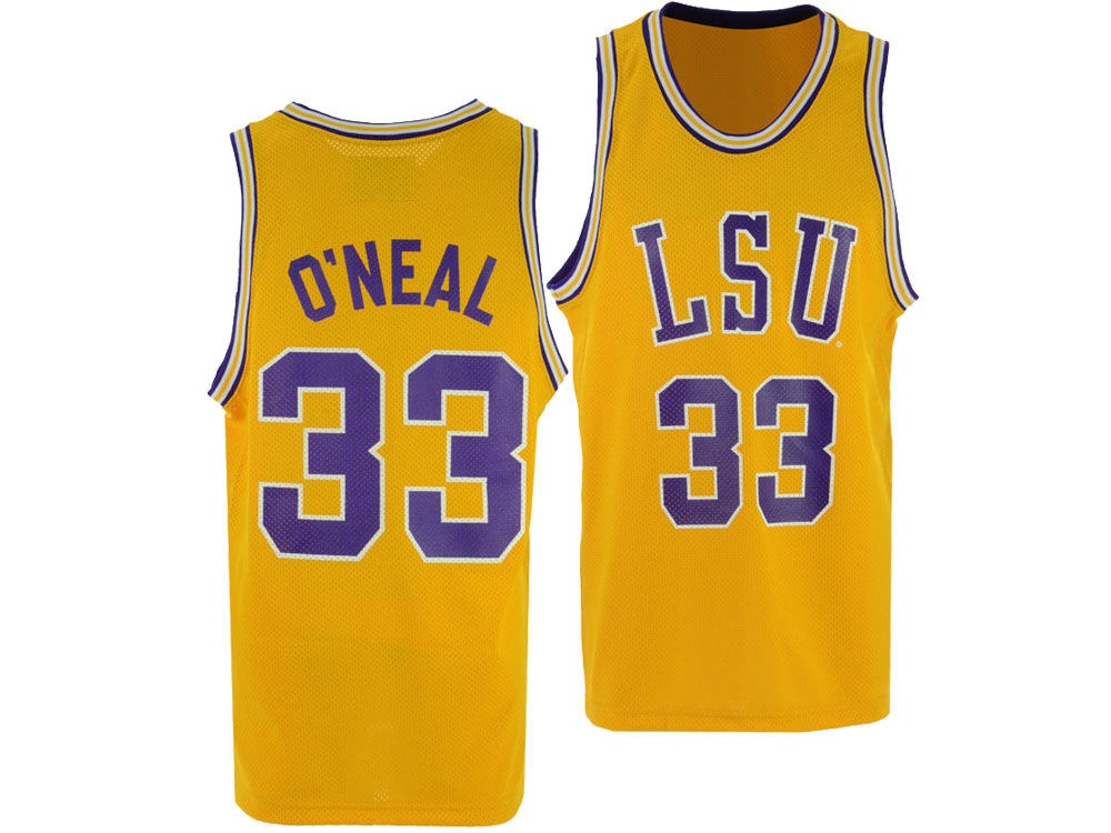 908edecbb LSU Tigers Shaquille O Neal Retro Brand NCAA Men s Throwback Basketball  Jersey. Top. LSU ...