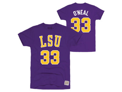 LSU Tigers Retro Brand NCAA Men's Throwback Name and Number Basketball T-Shirt