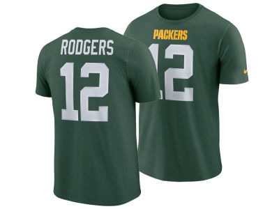 9e0c341fe Green Bay Packers Aaron Rodgers Nike NFL Men s Pride Name and Number  Wordmark T-shirt