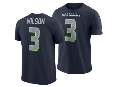 Seattle Seahawks Russell Wilson Nike NFL Men's Pride Name and Number Wordmark T-shirt