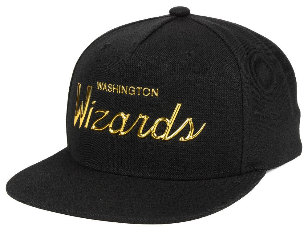 Washington Wizards Mitchell   Ness NBA Metallic Tempered Snapback Cap  0ce7b64b3a1