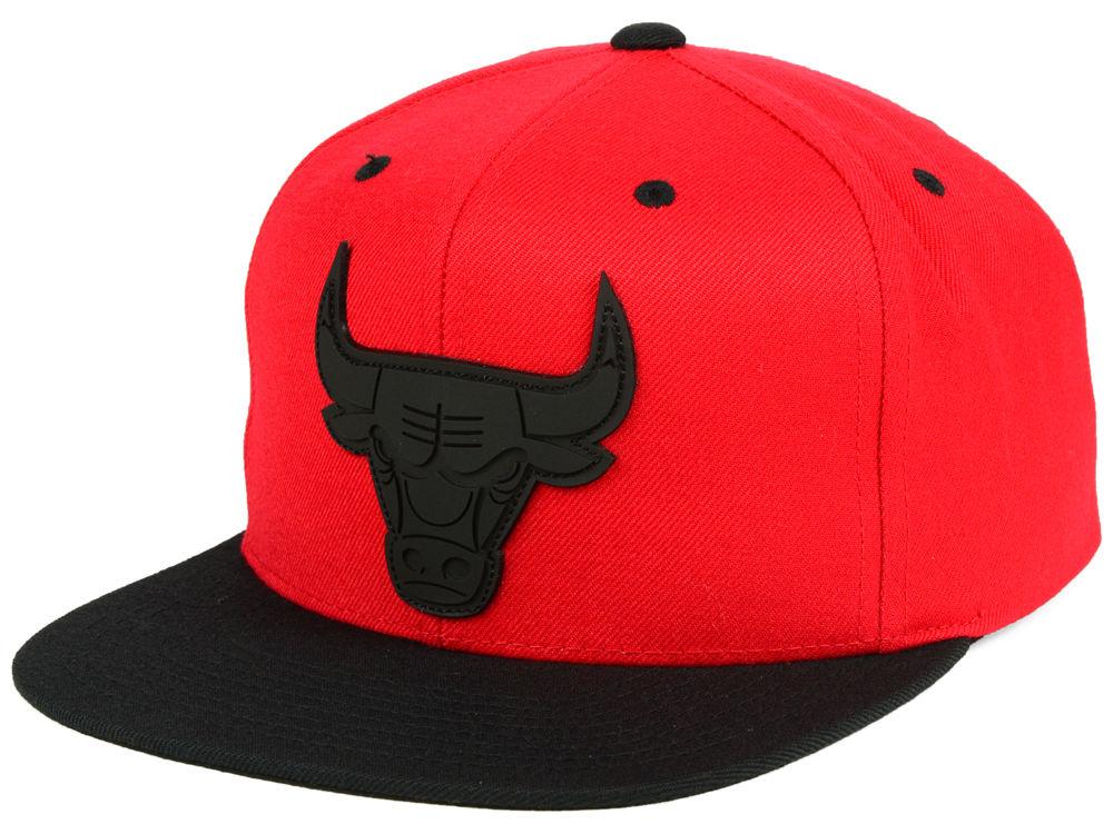 3532e14ee81 ... france chicago bulls mitchell ness nba rubber weld snapback cap lids  73163 0a762