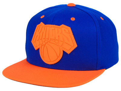 New York Knicks Mitchell & Ness NBA Rubber Weld Snapback Cap