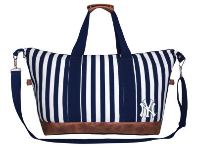New York Yankees Women's Striped Weekender Bag
