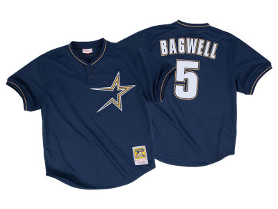 Houston Astros Jeff Bagwell Mitchell & Ness MLB Men's Authentic Mesh Batting Practice V-Neck Jersey