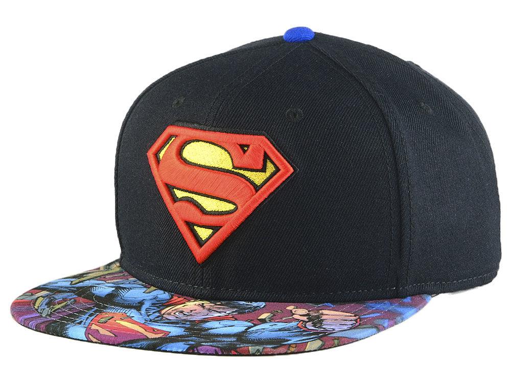 sports shoes 2a815 727a6 ... man of steel superhero camouflage tropic snapback hat cap 2a8dd dc922   usa dc comics superman basic snapback cap lids 9bf82 461ec