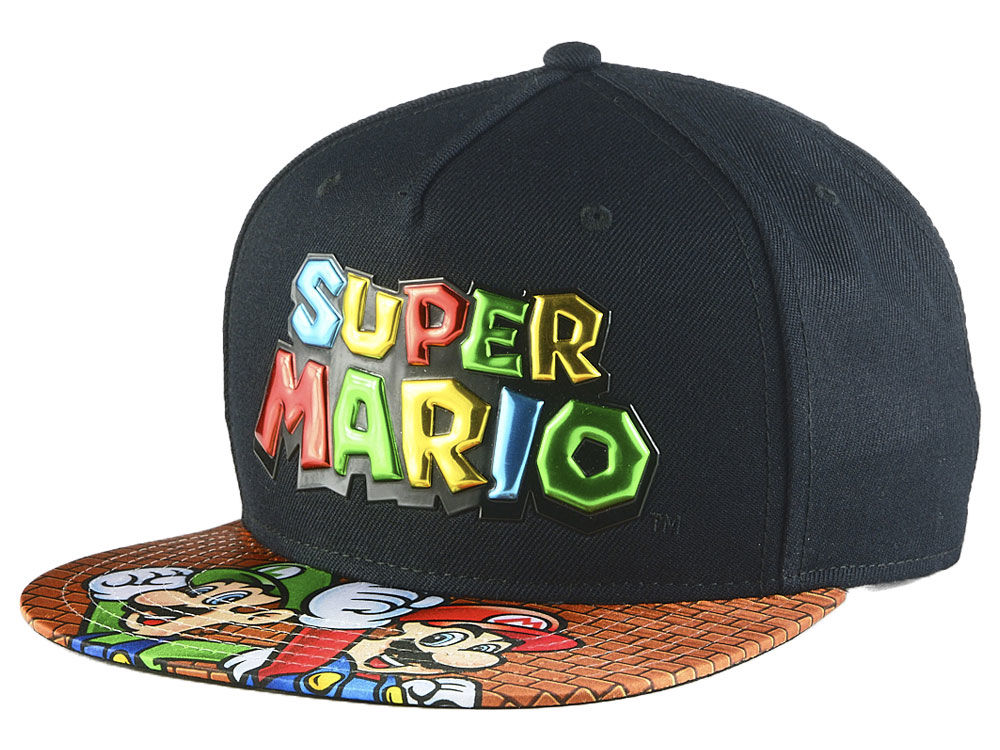 Nintendo Super Mario Chrome Weld Snapback Cap  0e4ada6d4228