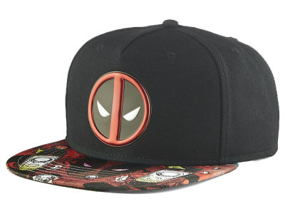 Deadpool Chapeau de Snapback de soudure de chrome