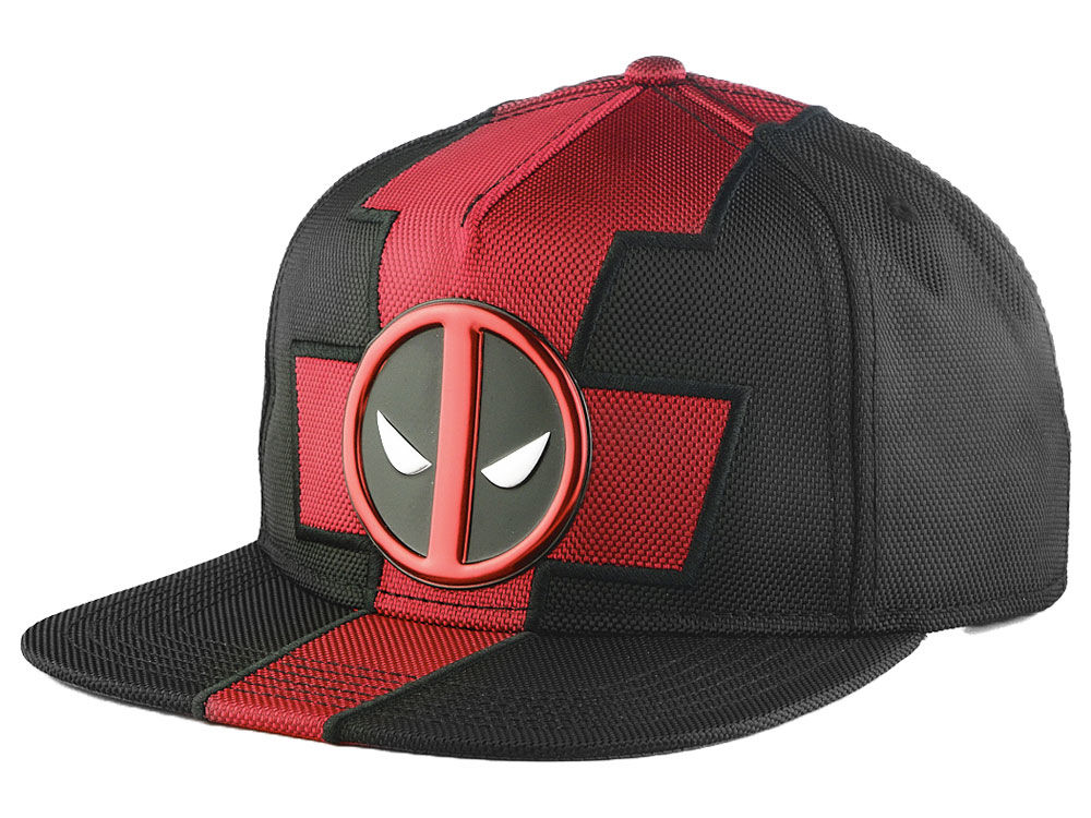 Marvel Deadpool Nylon Suit Up Snapback Cap  388a716a931