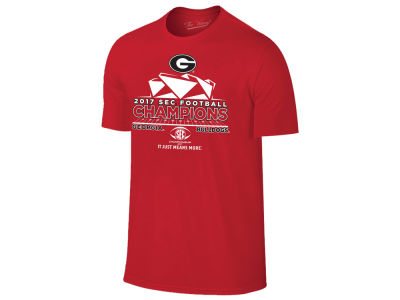 Georgia Bulldogs Retro Brand 2017 NCAA Men's Conference Locker Room Champ T-shirt