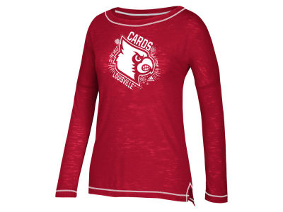 Louisville Cardinals adidas NCAA Women's Logo All Around Long Sleeve T-Shirt
