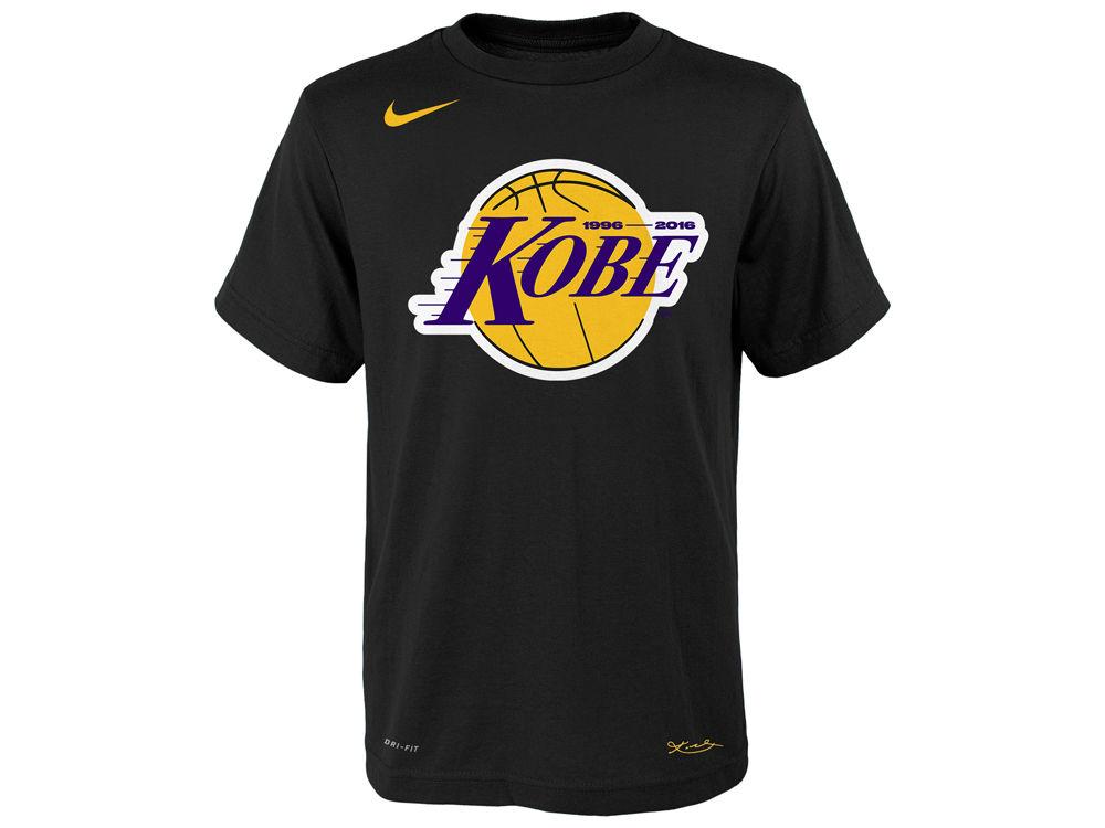 Los Angeles Lakers Kobe Bryant Nike NBA Youth Kobe Logo T-Shirt ... 95d8a6af5