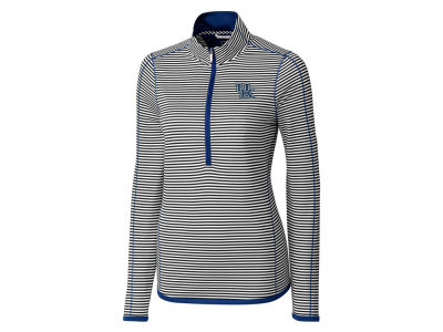 Kentucky Wildcats Cutter & Buck NCAA Women's Drytec Trevor Stripe Quarter Zip Pullover