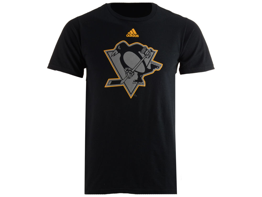 classic fit 2173c 3cd9a Pittsburgh Penguins adidas NHL Men's Ice Out Logo T-Shirt