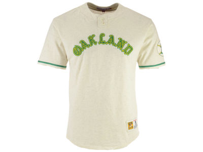 Oakland Athletics Mitchell & Ness MLB Men's Sealed The Victory Henley T-shirt